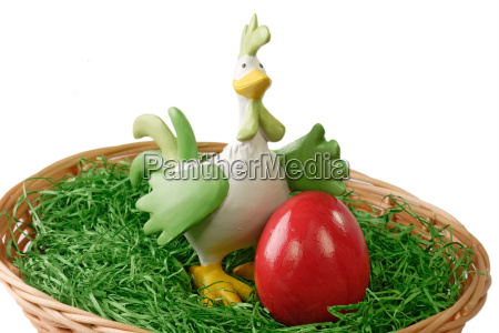 red easter egg with cock