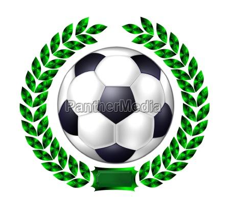 soccer laurel wreath