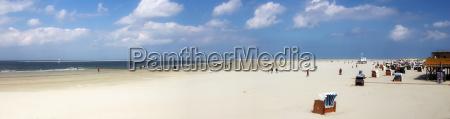 panorama sulla spiaggia di borkum