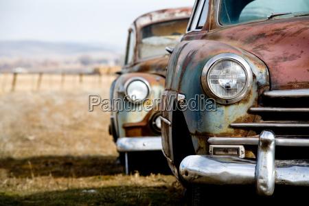 auto depoca abbandonate nelle zone rurali