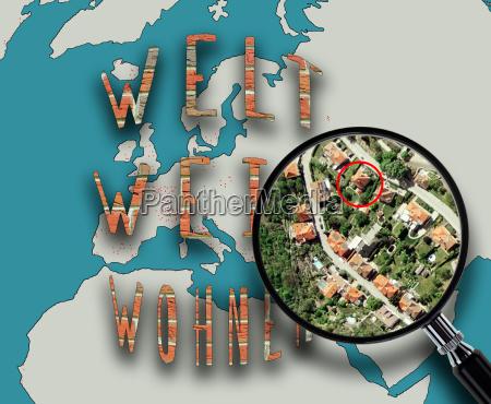 veduta aerea ricerca mappa atlante vivere