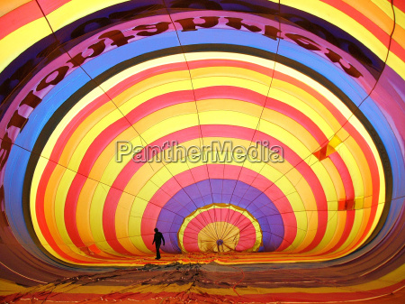 interno colorato mongolfiera cerchi palloncino spessore
