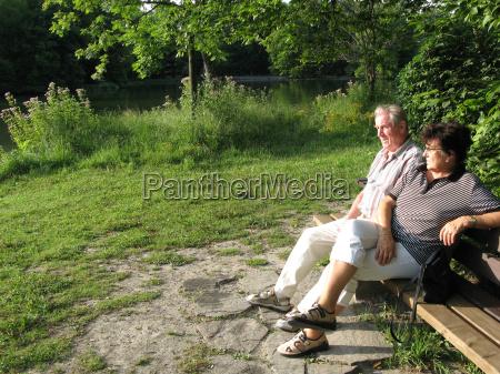 parco anziani anziano sede legno da