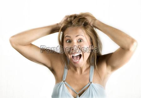 bello bella femminile frustrato asiatico femmina
