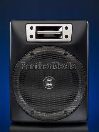 blu suono nero altoparlante tecnologia audio