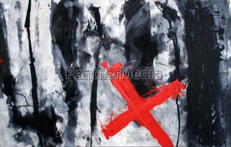 arte croce nero caucasico bianco pittura