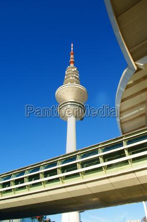 torre fiera amburgo torre della televisione