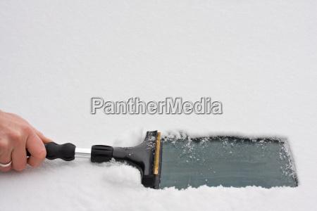ghiaccio raschiando