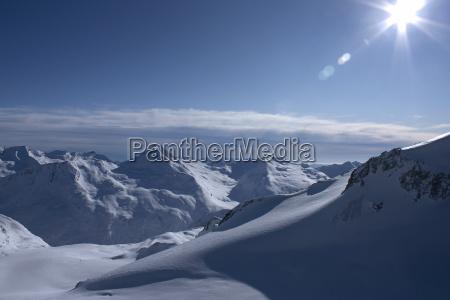 montagne inverno svizzera controluce sguardo vista