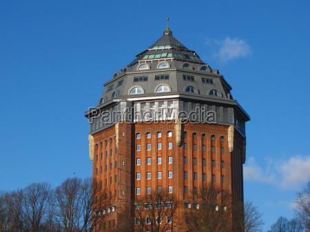 blu torre storico amburgo stile di