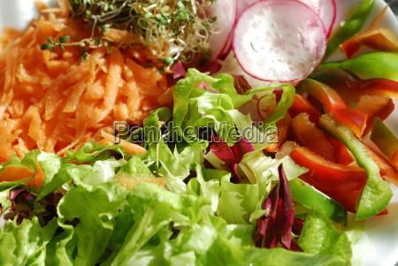 freschezza peperoncino carote ravanello insalata sano