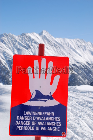 danger of avalanches