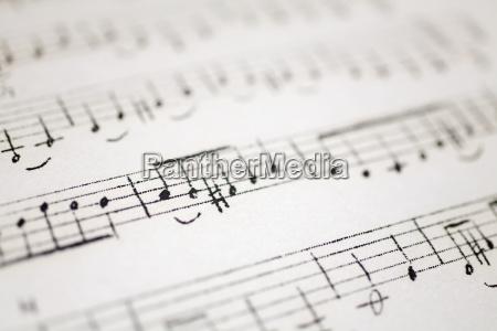musica note musicali canzone melodia foglio