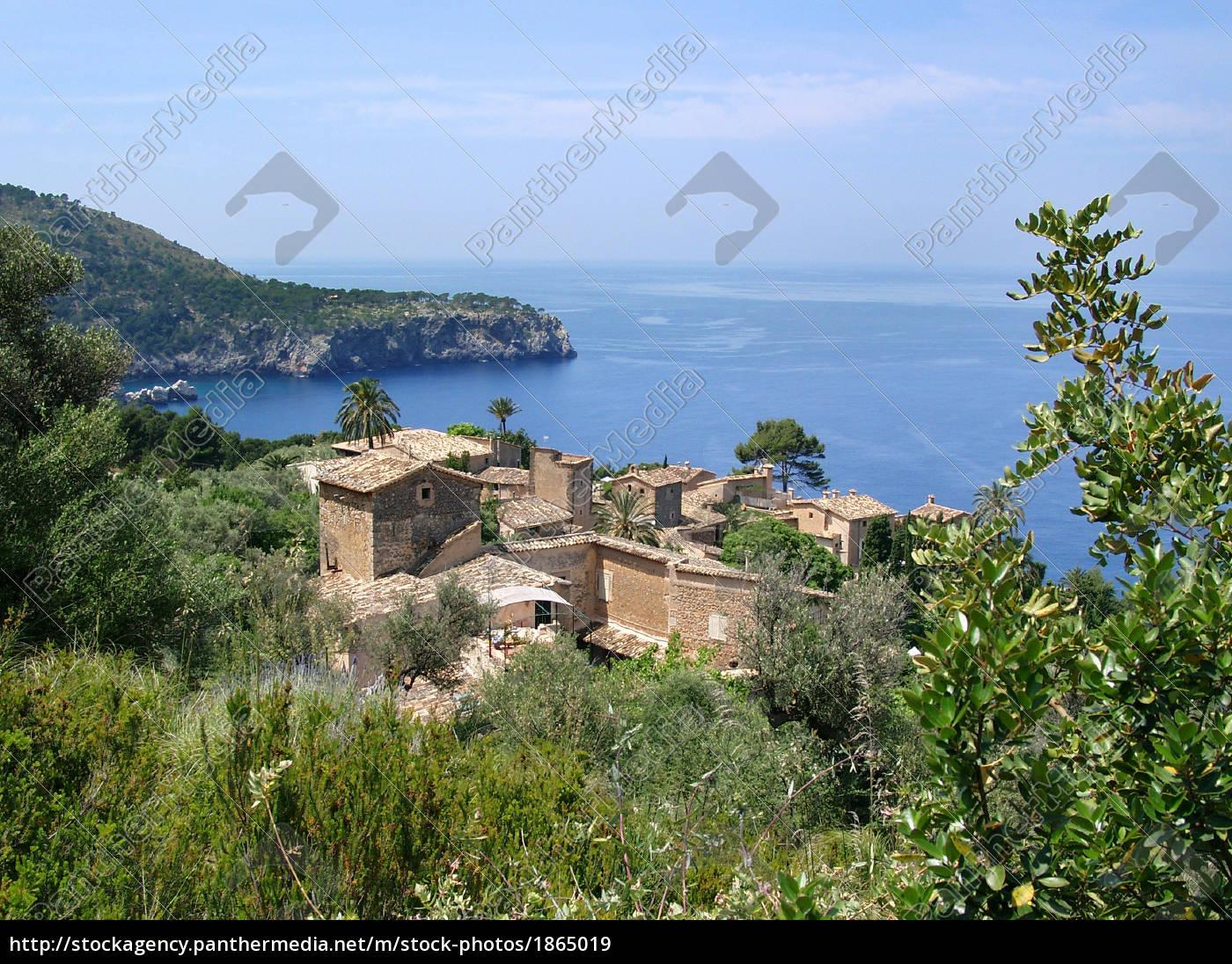 villaggio, sulla, costa, occidentale, di, maiorca - 1865019