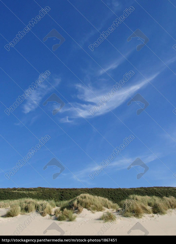 cieli, azzurri, sul, paesaggio, dunare - 1867451
