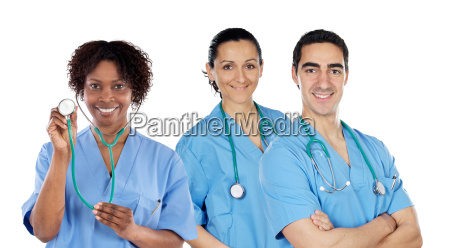 equipe medica di tre medici