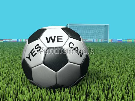 calcio con iscrizione yes we can