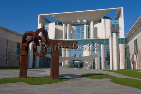 chancellery with sculpture