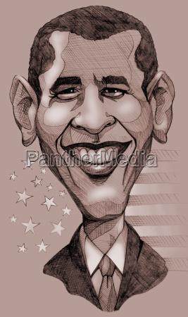 ritratto america politico presidente caricatura stati