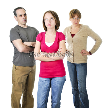 adolescente nella difficolta con i genitori