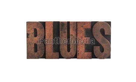 blues in tipografica tipo di legno