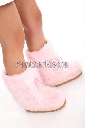 stivale gambe sottile rosa