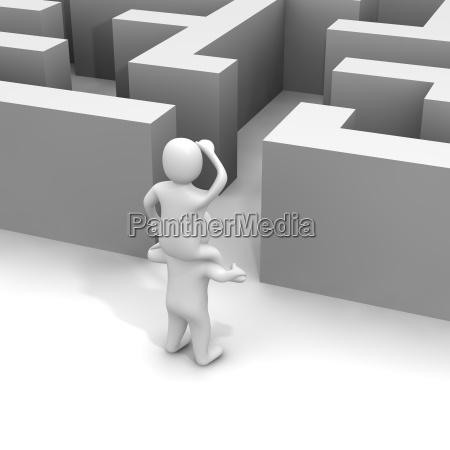 trovare il sentiero attraverso il labirinto