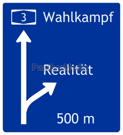 futuro segnale cartello stradale visione problema