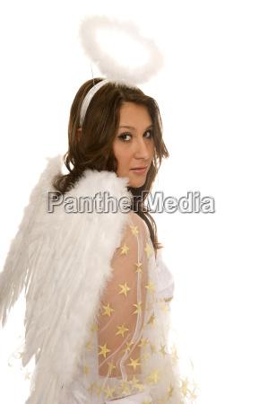 woman angel angels costume flirtation flirt