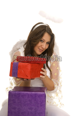 woman angel angels party celebration gift