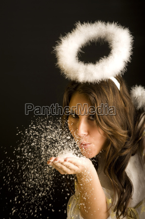 donna soffiare angelo angeli costume carismatico