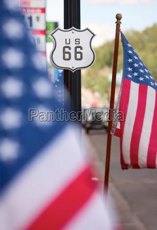 america bandiera percorso autostrada tracciato firmare