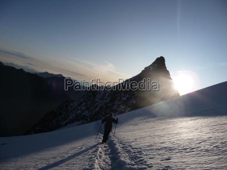 ghiacciaio mattina scalata arrampicata gita in