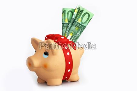 euro banconote biglietti salvadanaio riserva soldi
