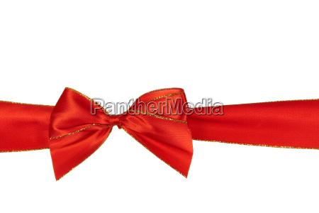 fiocco rosso opzionale in bianco