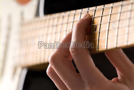 musicale primo piano elettrico musicista chitarra