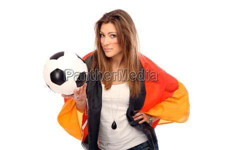 donna sport dello sport bandiera coppa