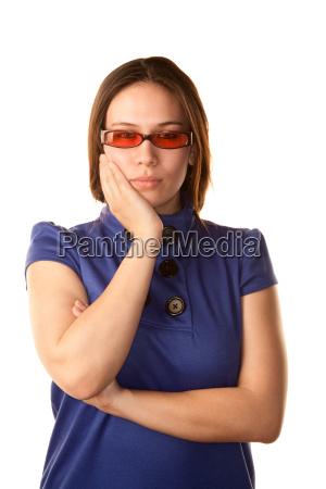 blu bello bella pulsante asiatico tingere