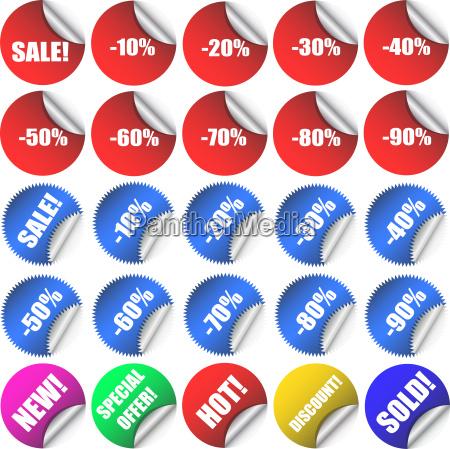 oggetto illustrazione negozio comperare vendita etichetta