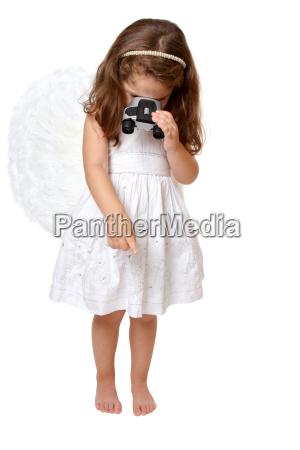 guardare osservare angelo angeli binocolo bambino