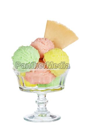 sapore multi vetro del gelato