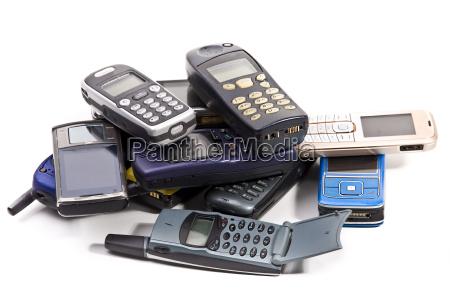 telefono cellulare consumato muovibile difettoso telefoni