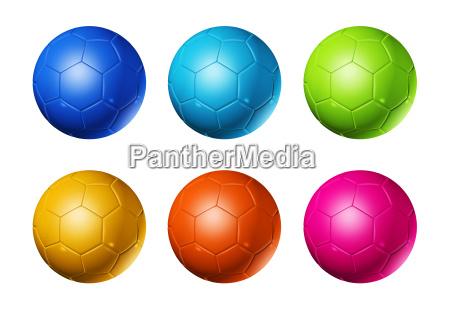 palla arcobaleno colorato tingere sport dello
