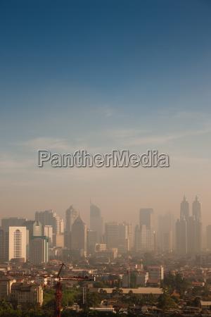 smog su una grande citta