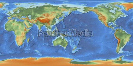mappa del mondo centrata sulla 150
