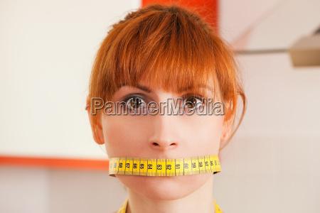 dieta e delusione donna con