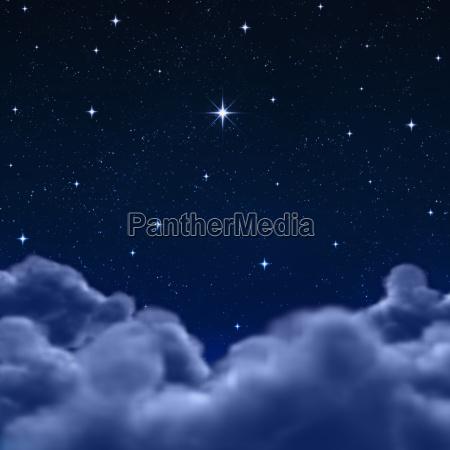 spazio o cielo notturno attraverso le