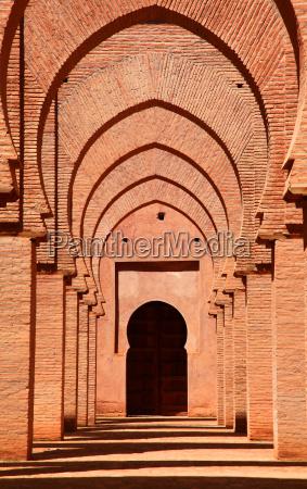 monumento marocco moschea torbogen kulturstaette
