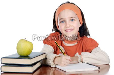 studente partecipante a un corso bambino