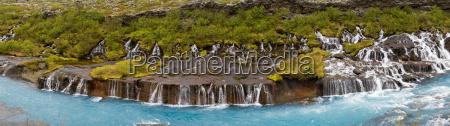 flusso cascata piastrelle spettacolo naturale scandinavia